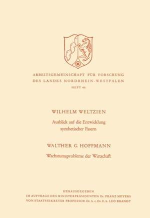 Ausblick auf die Entwicklung synthetischer Fasern. Wachstumsprobleme der Wirtschaft af Walther G. Weltzien