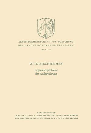 Gegenwartsprobleme der Asylgewahrung af Otto Kirchheimer