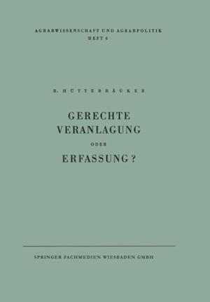 Gerechte Veranlagung oder Erfassung? af Rudolf Huttebrauker