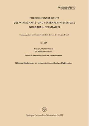 Glimmentladungen an festen nichtmetallischen Elektroden af Walter Weizel