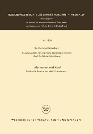 Information und Kauf af Gerhard Scherhorn