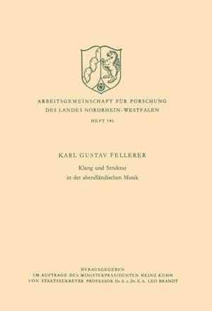 Klang und Struktur in der abendlandischen Musik af Karl Gustav Fellerer