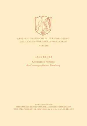 Konstruktive Probleme der Ozeanographischen Forschung af Hans Ebner