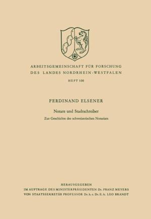 Notare und Stadtschreiber af Ferdinand Elsener