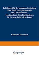 Politikbegriffe der modernen Soziologie af Karlheinz Messelken