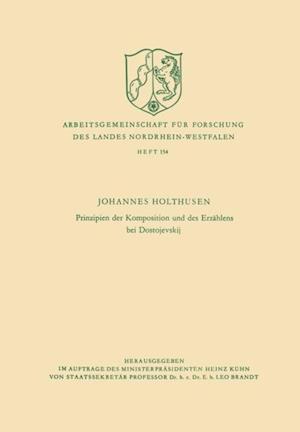 Prinzipien der Komposition und des Erzahlens bei Dostojevskij af Johannes Holthusen