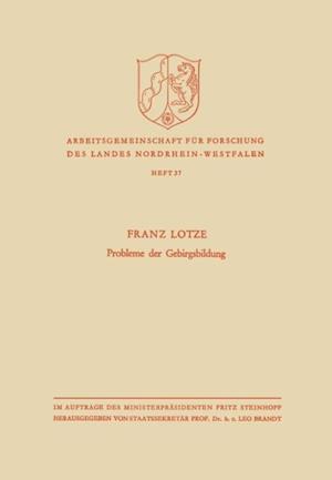 Probleme der Gebirgsbildung af Franz Lotze