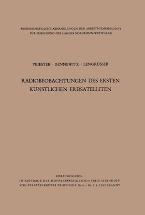 Radiobeobachtungen des ersten kunstlichen Erdsatelliten af Wolfgang Priester