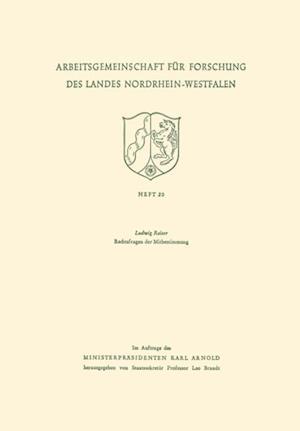 Rechtsfragen der Mitbestimmung af Ludwig Raiser