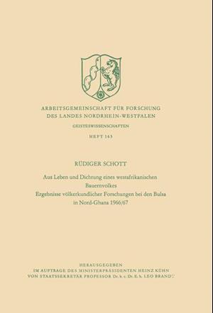 Aus Leben Und Dichtung Eines Westafrikanischen Bauernvolkes af Rudiger Schott
