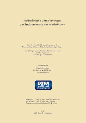 Messtechnische Untersuchungen Zur Strukturanalyse Von Mischkorpern af Ludwig Muhlhaus
