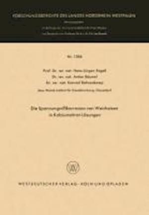 Die Spannungsrisskorrosion Von Weicheisen in Kalziumnitrat-Losungen af Hans-Jurgen Engell