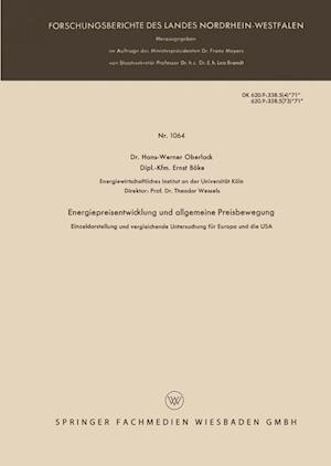 Energiepreisentwicklung Und Allgemeine Preisbewegung af Hans-Werner Oberlack