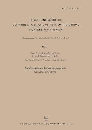 Gefassreaktionen Der Korperperipherie Bei Schalleinwirkung af Gunther Lehmann