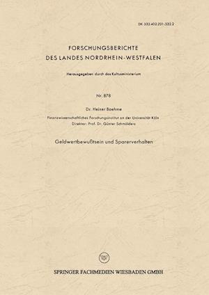 Geldwertbewusstsein Und Sparerverhalten af Heiner Boehme