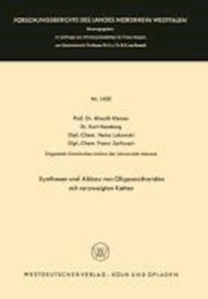 Synthesen Und Abbau Von Oligosacchariden Mit Verzweigten Ketten af Almuth Klemer, Kurt Homberg, Heinz Lukowski