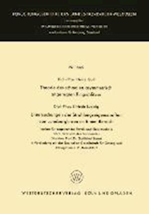 Theorie Des Schmalen Asymmetrisch Angeregten Ringschlitzes. Untersuchungen Der Strahlungseigenschaften Von Luneberglinsen Im 8-MM-Bereich af Heinz Gall