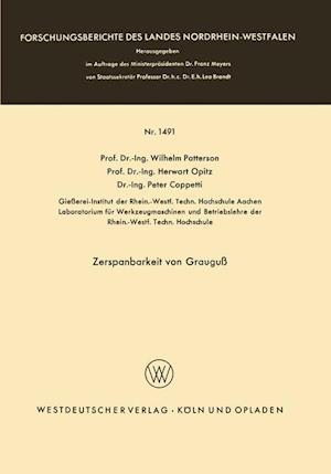 Zerspanbarkeit Von Grauguss af Wilhelm Patterson