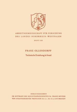 Technische Erziehung in Israel af Franz Ollendorff