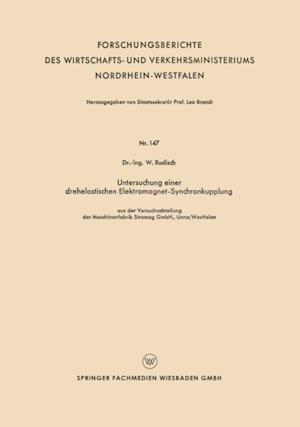 Untersuchung einer drehelastischen Elektromagnet-Synchronkupplung af W. Rudisch