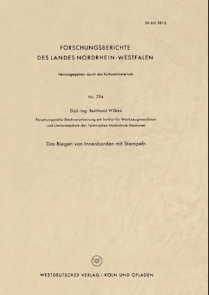 Das Biegen von Innenborden mit Stempeln af Reinhard Wilken