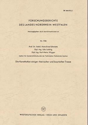 Die Konstitution einiger rheinischer und bayrischer Trasse af Hans-Ernst Schwiete