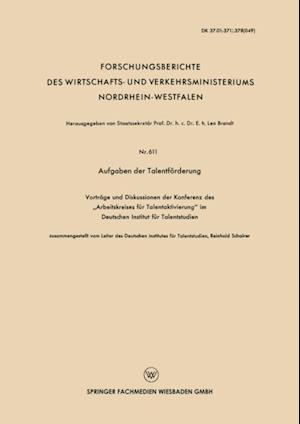 Aufgaben der Talentforderung af Reinhold Schairer