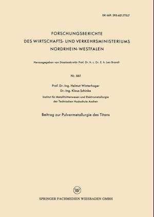 Beitrag zur Pulvermetallurgie des Titans af Helmut Winterhager