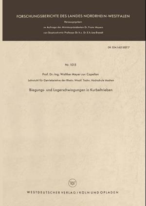 Biegungs- und Lagerschwingungen in Kurbeltrieben af Walther Meyer Zur Capellen
