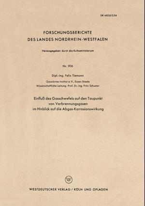 Einflu des Gasschwefels auf den Taupunkt von Verbrennungsgasen im Hinblick auf die Abgas-Korrosionswirkung af Felix Tiemann