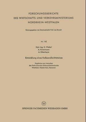 Entwicklung eines Kalksandleichtsteines af Gottfried Martin Ferdinand Wiebel