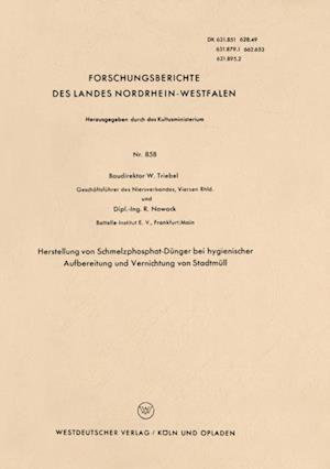 Herstellung von Schmelzphosphat-Dunger bei hygienischer Aufbereitung und Vernichtung von Stadtmull af Walter Triebel