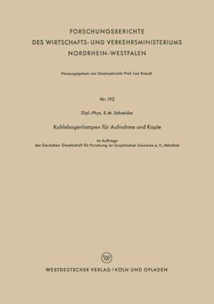 Kohlebogenlampen fur Aufnahme und Kopie af E. M. Schneider