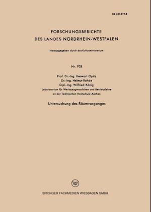 Untersuchung des Raumvorganges af Herwart Opitz