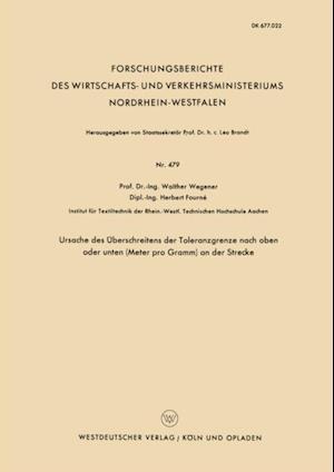 Ursache des Uberschreitens der Toleranzgrenze nach oben oder unten (Meter pro Gramm) an der Strecke af Walther Wegener