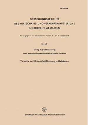 Versuche zur Korperschalldammung in Gebauden af Albrecht Eisenberg