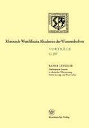 Shakespeares Sonette in Deutscher Ubersetzung af Rainer Lengeler