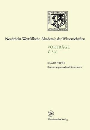 Besteuerungsmoral Und Steuermoral af Klaus Tipke