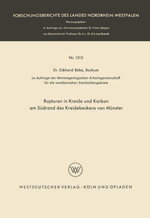 Rupturen in Kreide und Karbon am Sudrand des Kreidebeckens von Munster af Eckhard Boke