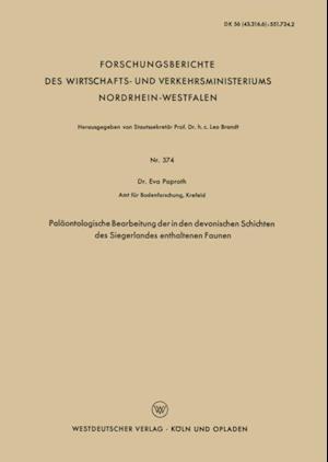 Palaontologische Bearbeitung der in den devonischen Schichten des Siegerlandes enthaltenen Faunen af Eva Paproth