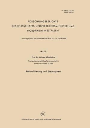 Rationalisierung und Steuersystem af Gunter Schmolders