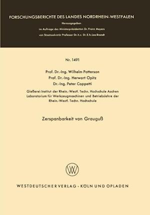 Zerspanbarkeit von Graugu af Wilhelm Patterson