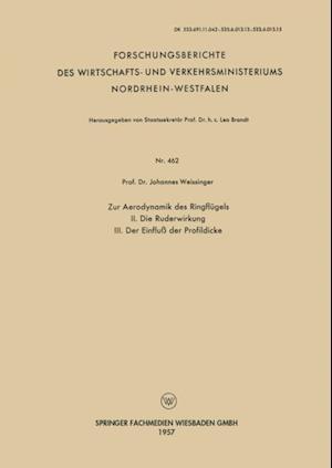 Zur Aerodynamik des Ringflugels af Johannes Weissinger