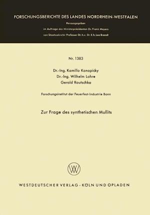 Zur Frage des synthetischen Mullits af Kamillo Konopicky
