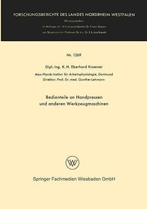 Bedienteile an Handpressen Und Anderen Werkzeugmaschinen af Henning Wode