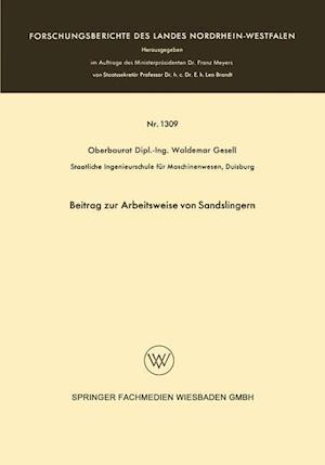 Beitrag Zur Arbeitsweise Von Sandslingern af Waldemar Gesell