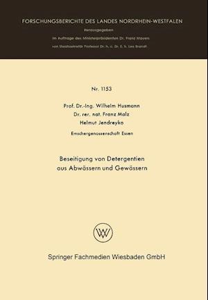 Beseitigung Von Detergentien Aus Abwassern Und Gewassern af Wilhelm Husmann