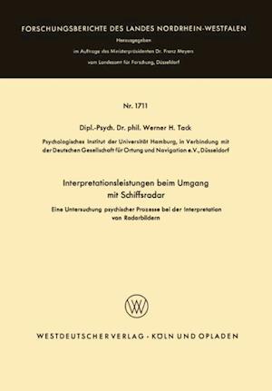 Interpretationsleistungen Beim Umgang Mit Schiffsradar af Werner H. Tack, Werner H. Tack