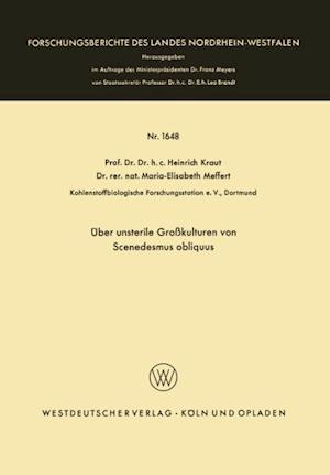Uber Unsterile Grosskulturen Von Scenedesmus Obliquus af Heinrich Kraut, Heinrich Kraut