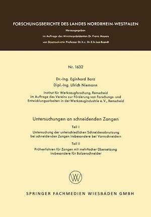 Untersuchungen an Schneidenden Zangen af Eginhard Barz